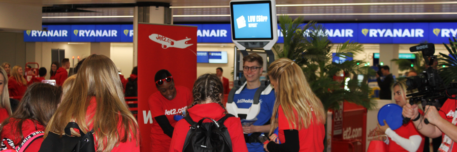Jet2 launches with the 2017 iWalker® at Birmingham Airport